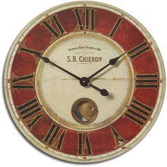 Chieron Antique Brass 23-Inch Wall Clock   Overstock.com Shopping - The Best Deals on Clocks