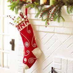 Easy Handmade Christmas Stockings ... Swirled Knit Stocking
