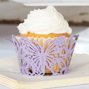 Lavendar Butterfly Cup Cake Wraps - 12 Pack #PurpleTheme