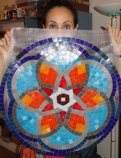 Arte em mosaico - mandala para aplicação!