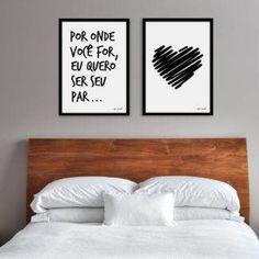 Quadro – Ela é minha menina e eu sou o menino dela – Santa Casinhola Dream Bedroom, Girls Bedroom, Bedroom Decor, Modern Bedroom, Home Design Decor, House Design, Interior Design, Home Decor, Couple Room
