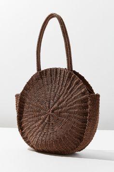 98b472fca7 Large Circle Straw Shoulder Bag