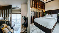 A Loft-Type Bachelor Pad Found Inside a Family Home Condo Interior Design, Condo Design, Studio Interior, House Design, Design Tech, Studio Type Condo Ideas Small Spaces, Mandala Lotus Flower, Studio Type Apartment, Home And Living