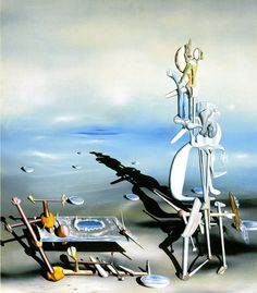 Surrealism - Yves Tanguy Indefinite Divisibility Albright Knox Art Gallery, Buffalo, New York. Magritte, Art Pop, Yves Tanguy, Art Beauté, Hans Arp, Art Gallery, Kunst Online, Surrealism Painting, Salvador Dali