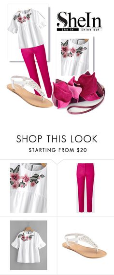 """""""Pink flower"""" by callmerose ❤ liked on Polyvore featuring SONOMA Goods for Life"""