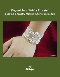 Elegant Pearl White Bridal Bracelet Beading Tutorial