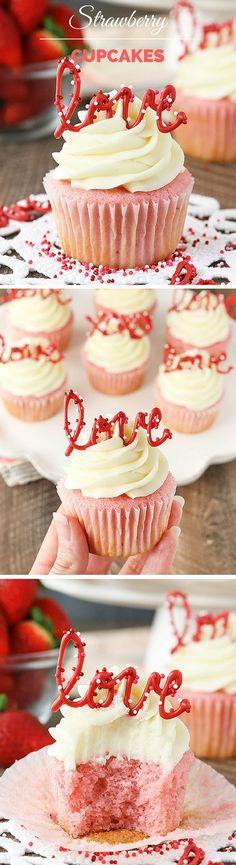 Get the recipe ♥️ Strawberry Cupcakes #recipes /recipes_to_go/