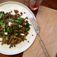 Charred Broccoli and Lentil Salad recipe on Food52