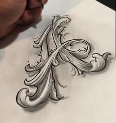 Gothic letters – Graffiti World Tattoo Lettering Styles, Graffiti Lettering Fonts, Creative Lettering, Lettering Design, Typography, Tattoo Fonts Alphabet, Hand Lettering Alphabet, Alphabet Design, Letter A Tattoo