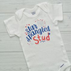 Just made and shipped this adorable 4th of July one piece out to a customer! Can't wait for them to get it