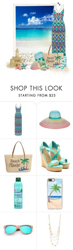 """Beach Please!"" by loveroses123 ❤ liked on Polyvore featuring Emma Pake, Missoni, Nordstrom, Alba Botanica, Casetify, INC International Concepts and Kate Spade"
