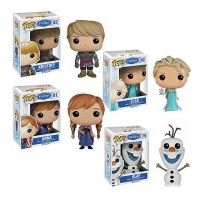 Funko Disney POP Frozen characters: Elsa Anna Kristoff Olaf Value bundle of 4