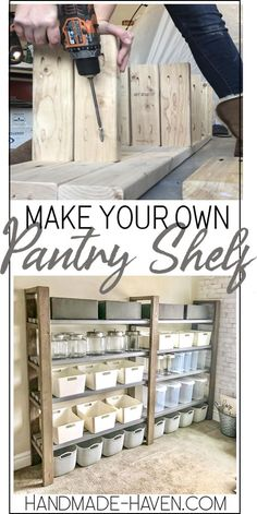 Diy furniture DIY Pantry Regal Mold 101 Home mold Easy Home Decor, Diy Pantry Shelves, Diy Shelves, Decor, Diy Decor, Diy Home Decor, Home Diy, Farmhouse Diy, Home Decor