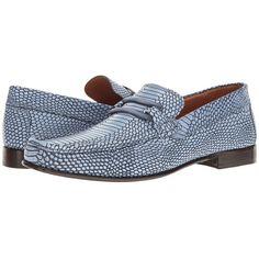 Donald J Pliner Dione (Blue) Men's Shoes ($295) ❤ liked on Polyvore featuring men's fashion, men's shoes, men's dress shoes, mens dress loafers shoes, mens blue dress shoes, mens leather sole dress shoes, mens blue shoes and mens slipon shoes