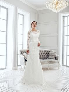4f818b8716e1 Dress - Sans Pareil Bridal Collection 2016  989 - All-over lace details in  classic fit and flare wedding dress