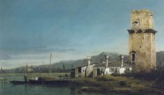THE TORRE DI MALGHERA. 1744 c.- oil on canvas. 37,3 × 62,2 cm. Provenance : given in 1987 to the Bristol City Museum and Art Gallery in lieau of tax. Bristol City Museum and Art Gallery. Inv. No. K5269.