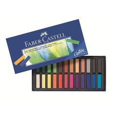 Faber-Castell - Creative Studio - Soft Pastel Mini Crayons - Box of 24 Creative Studio, Studio 24, Studio Ideas, Faber Castell, Pastel Crayons, Pastel Pencils, School Supplies, Art Supplies, Drawing Letters