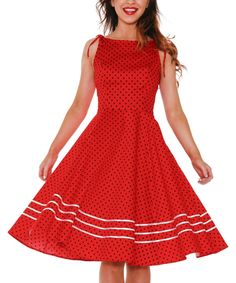 Look what I found on #zulily! Red Sabrina Dress - Plus by HEARTS & ROSES LONDON #zulilyfinds