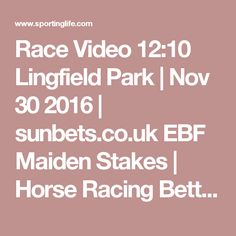 Race Video 12:10 Lingfield Park   Nov 30 2016   sunbets.co.uk EBF Maiden Stakes   Horse Racing Betting Tips   Racecards, Live Results  News   Sporting Life