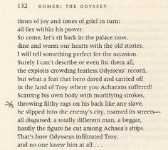 """Compare this passage from the Robert Fagles translation of The Odyssey to """"Roll on John"""": """"Rags on your back just like any other slave"""""""