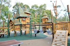Underwood Park in Priestdale | A Park for Families.  Underwood park in Priestdale has a range of challenging equipment created from durable and natural materials for your BK to including climbing nets, rope bridges and a climbing wall, the towers of which are up to five metres high!