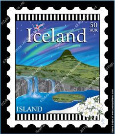 Iceland - 6 x 7 Mini Stamp