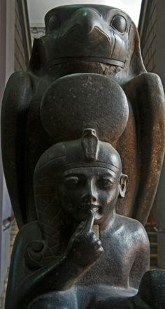 Ramesses II as a boy. This colossal granite was found in the ruins of a mud-brick building in Tanis. Egyptian Museum, Cairo - Egypt.