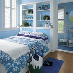 Blue bedroom - sky blue for-the-home