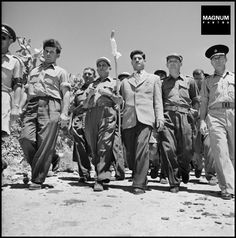 ISRAEL. Galilee. 1948. Inauguration of a new settlement//Robert Capa