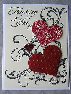 Stampin Up Card Kit, Love Valentine Handmade Card, Stampin' Up Ready Cards Making Greeting Cards, Greeting Cards Handmade, Valentine Love Cards, Valentine Ideas, Homemade Valentines, Creative Cards, Stampin Up Cards, Scrapbook Cards, Holiday Cards