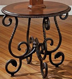 Top Home Design 93 Most Popular Living Room Table Furniture 37 Iron Furniture, Table Furniture, Living Room Furniture, Living Room Decor, Living Area, Steve Silver Furniture, Cherry End Tables, End Table Sets, Iron Table