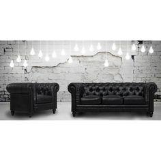 TOV Furniture Zahara Black Leather Living Room Set TOV-S24-B-SET