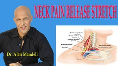 Neck Pain Release Stretch (How to Decompress Pinched Nerve) - Dr Mandell Neck Pain Relief, Natural Pain Relief, Neck Pain Treatment, Stiff Neck Remedies, Shoulder Problem, Neck Headache, Neck Exercises, Reflexology Massage