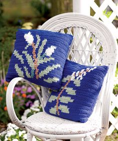 Botanica Pillows - a great way to try tapestry crochet.