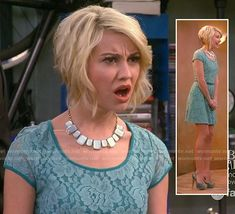 Rileys blue lace dress on Baby Daddy.  Outfit Details: http://wornontv.net/18450/ #BabyDaddy