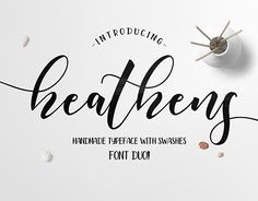 "Check out new work on my @Behance portfolio: ""Heathens Script Font"" http://be.net/gallery/51645777/Heathens-Script-Font"