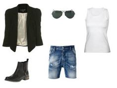 b41d67ca8f8 12 Ways to Explode Your Denim Shorts Game This Summer. Classy OutfitsWarm  WeatherDenim ...