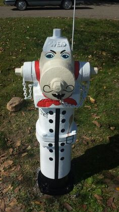 Chef fire hydrant in Milaca, Mn. Painted by the O'Brien family.