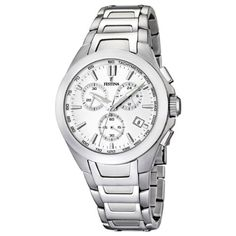 Festina Men's Quartz Watch with Silver Dial Chronograph Display and Silver Stainless Steel Bracelet F16678/1 https://www.carrywatches.com/product/festina-mens-quartz-watch-with-silver-dial-chronograph-display-and-silver-stainless-steel-bracelet-f166781/ Festina Men's Quartz Watch with Silver Dial Chronograph Display and Silver Stainless Steel Bracelet F16678/1  #braceletwatch...