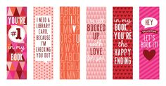 FREE Valentine's Day Bookmark Printables.  For more #Valentine Freebies, click here.