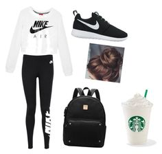 """Just do it and Get me coffee"" by antayacurry ❤ liked on Polyvore featuring NIKE"