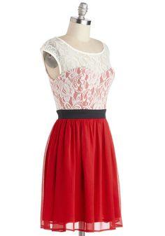 Shortcake Story Dress in Red   Mod Retro Vintage Dresses   ModCloth.com