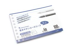 Maruman Smooth to Write Loose Leaf Mini Paper - B7 Modified - 6 mm Rule - 9 Holes - 100 Sheets