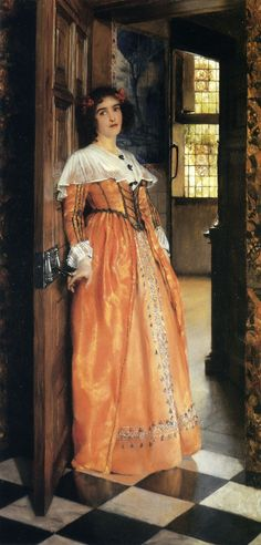 (Lady Laura Teresa Alma Tadema) (1852-1909)  At the Doorway