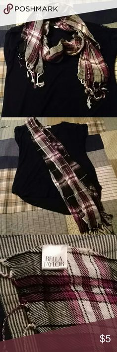 Purple, Black and Silver Scarf Vicose Scarf Bella Taylor Accessories Scarves & Wraps