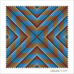 Blue and Brown Bargello Needlepoint, Bargello Quilts, Needlepoint Stitches, Bead Loom Patterns, Cross Stitch Patterns, Quilt Patterns, Crochet Patterns, Pixel Crochet Blanket, Tapestry Crochet