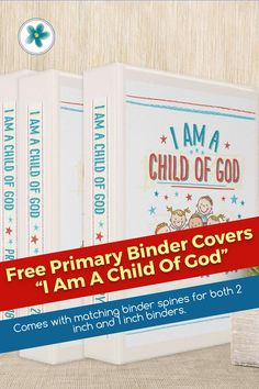 """Look, it is your child and can't you just see them saying this: """"I am a child of God."""" When they say those words they will be asserting their love for Heavenly Father, we hope. The binder cover will remind them how truly loved they are now and forever. Consider these binder covers to make that possible! #Primary #PrimaryPrintables #Ministering #MinisteringPrintables #LatterDaySaint #BinderCover #FreePrintables Primary Activities, Lds Primary, Godchild, Binder Covers, Now And Forever, Heavenly Father, Free Printables, Mom, Words"""