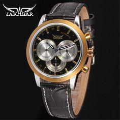 $27.00 (Buy here: https://alitems.com/g/1e8d114494ebda23ff8b16525dc3e8/?i=5&ulp=https%3A%2F%2Fwww.aliexpress.com%2Fitem%2F2016-JARAGAR-Automatic-Watches-For-Men-High-Quality-Black-Leather-Belt-Three-Eyes-Display-Multifunction-Dial%2F32675606450.html ) 2016 JARAGAR Automatic Watches For Men High Quality Black Leather Belt Three Eyes Display Multifunction Dial Male Business Clock for just $27.00
