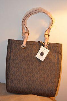 90f7545364 Michael Kors Vertical Macbook Tote Bag Handbag Purse MK Monogram-Brand New  $189.99