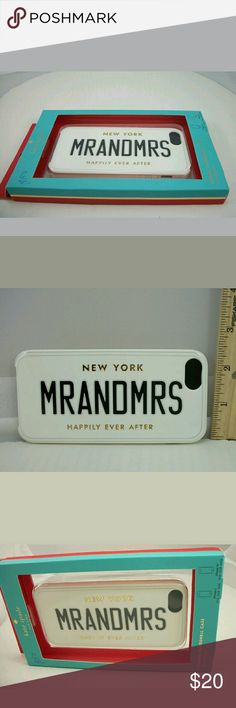 Auth Kate Spade NY Mr&Mrs IPhone Case NIB Kate Spade New York Mr and Mrs Hybird Hardshell iPhone 5 / 5s Case $40 plus tax No trades please kate spade Accessories Phone Cases